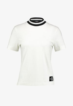 MOCK NECK TEE - T-shirt basique - winter white