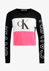 Calvin Klein Jeans - BLOCKING STATEMENT LOGO TEE - T-shirt à manches longues - raspberry sorbet - 3