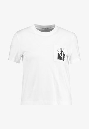 MIRRORED MONOGRAM POCKET TEE - T-shirt med print - bright white