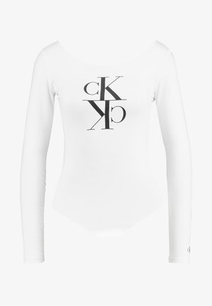 MIRRORED MONOGRAM BODY - Long sleeved top - bright white