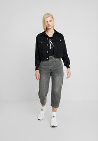 Calvin Klein Jeans - MIRRORED MONOGRAM BODY - Top sdlouhým rukávem - black - 1