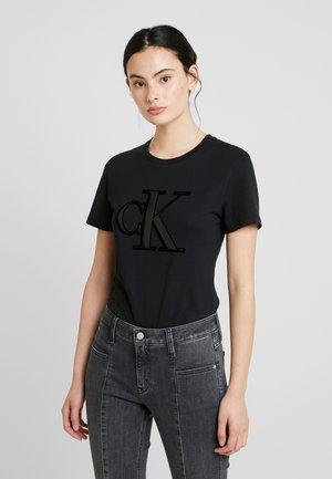 MONOGRAM SLIM TEE - T-Shirt print - black