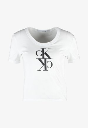 MIRRORED MONOGRAM BABY TEE - T-shirt print - bright white
