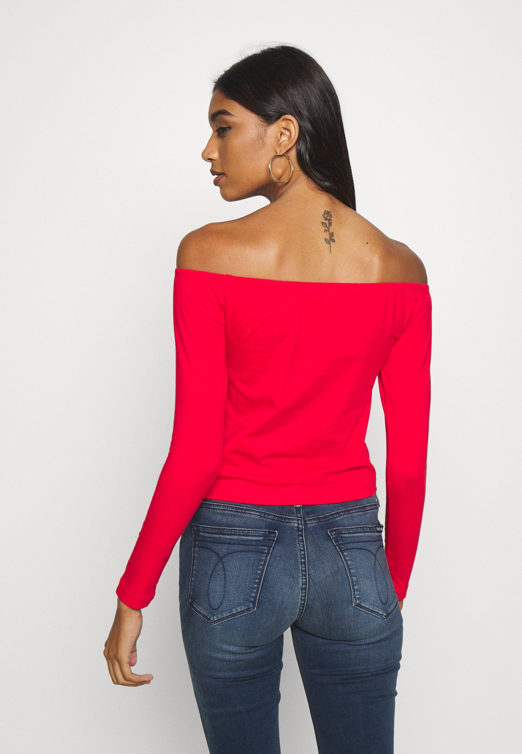 Calvin Klein Jeans BARDOT INSTITUTIONAL TEE - Topper langermet - red