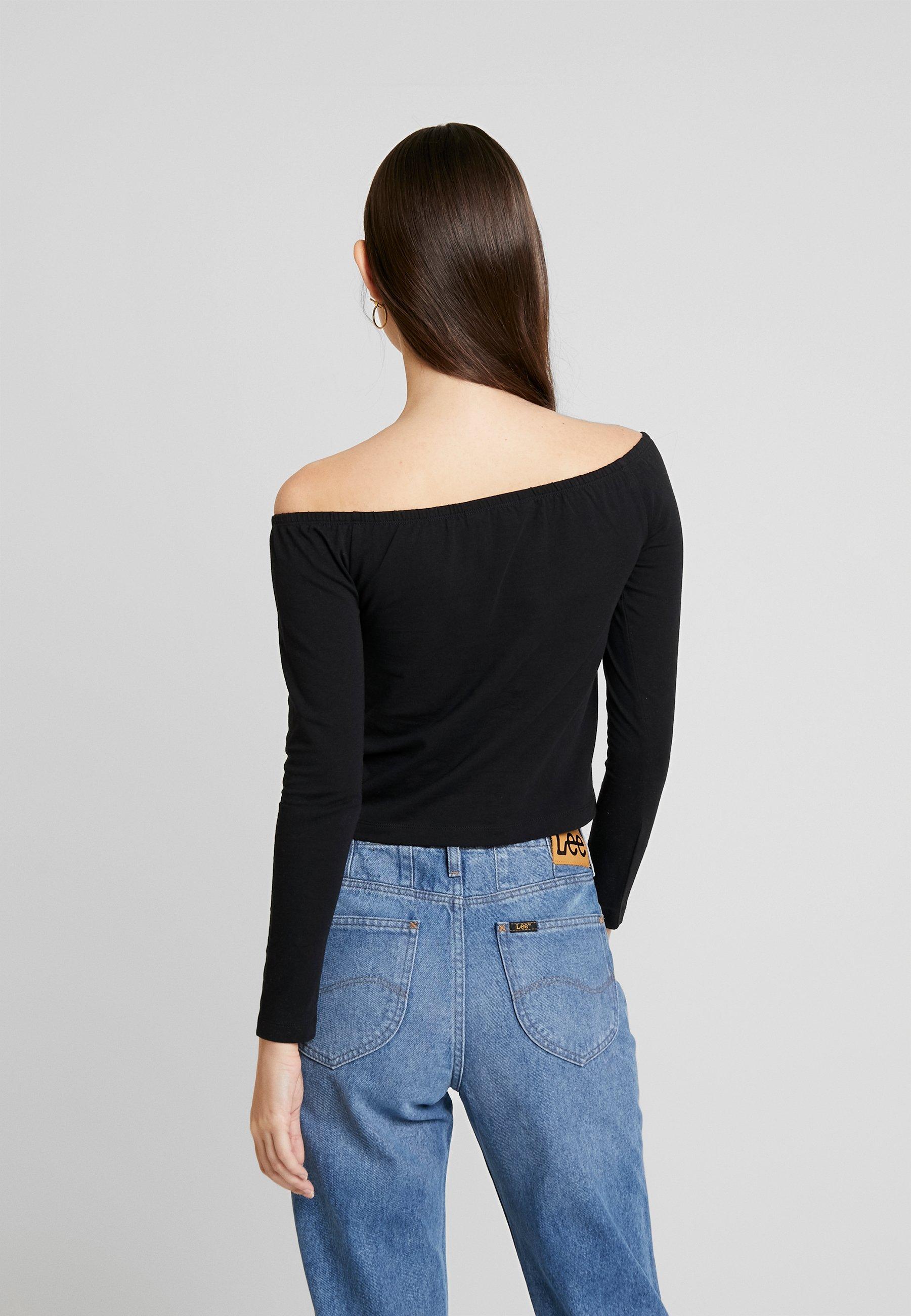 Calvin Klein Jeans BARDOT INSTITUTIONAL TEE - Topper langermet - black