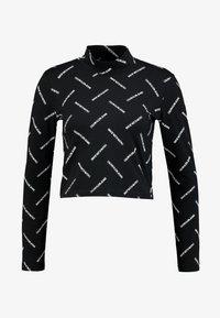Calvin Klein Jeans - DIAGONAL LOGO MOCK NECK TEE - Top sdlouhým rukávem - black - 4