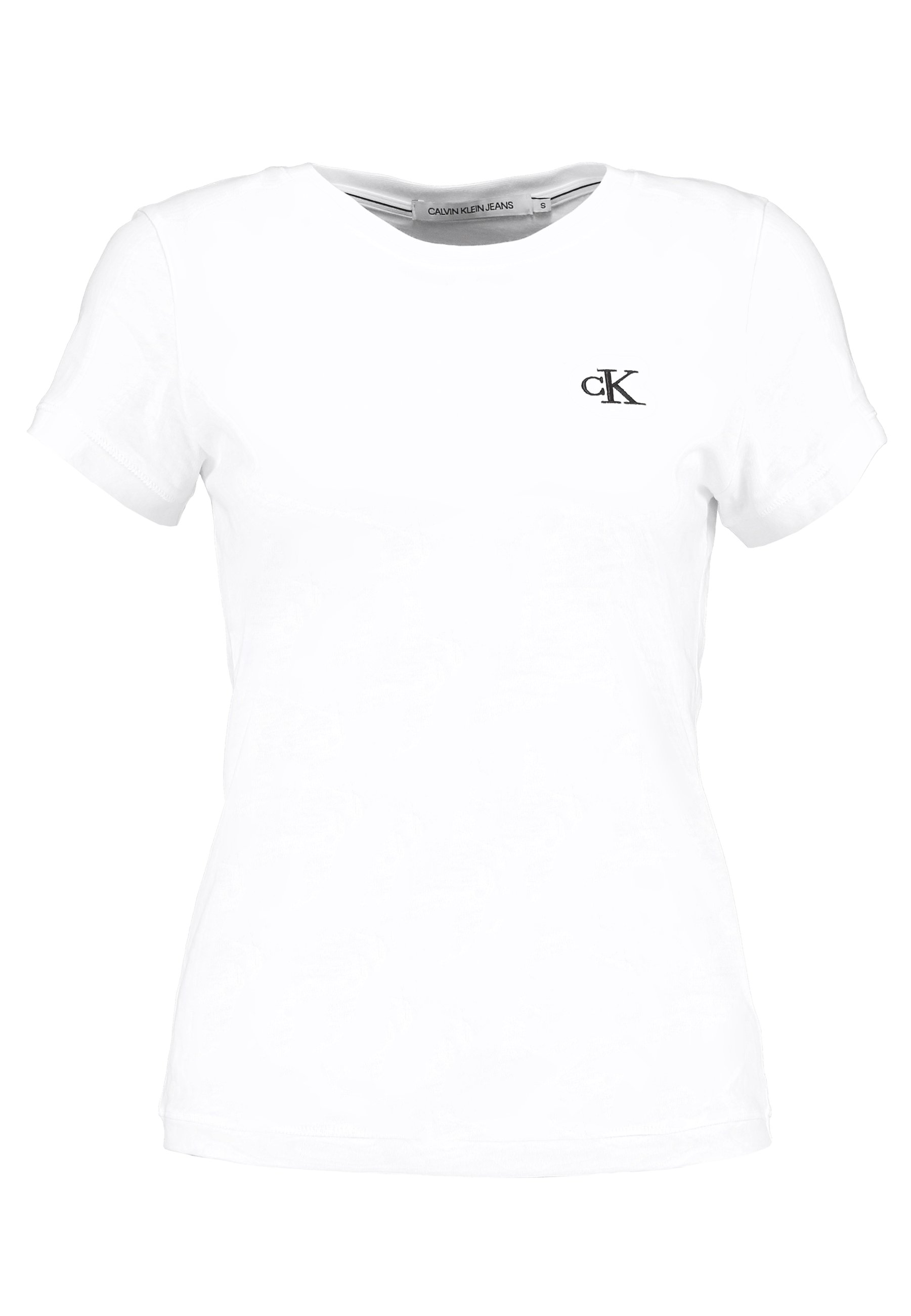 Calvin Klein Jeans EMBROIDERY - T-shirt basic - bright white