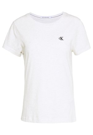 EMBROIDERY - T-shirt basic - white/grey heather