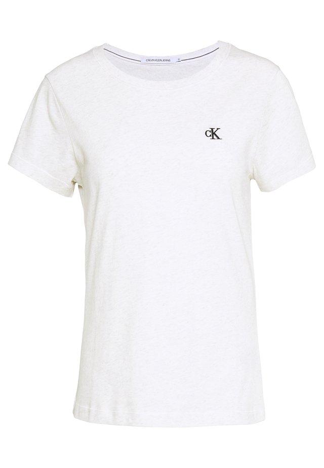 EMBROIDERY - T-Shirt basic - white/grey heather