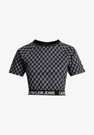 MILANO - T-shirt print - black beauty/bright white aop