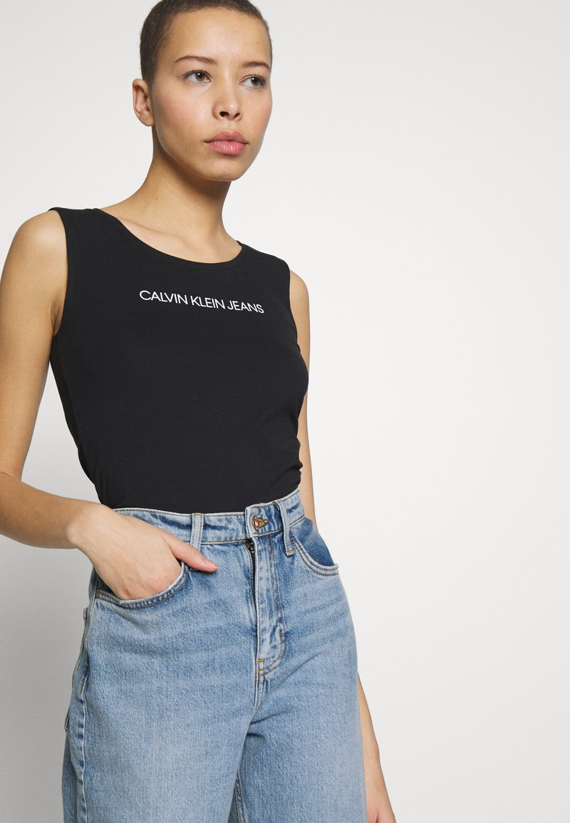 Calvin Klein Jeans - SMALL INSTITUTIONAL TANK BODY - Top - black