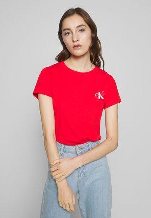 SLIM 2 PACK - T-shirt print - fiery red/bright white