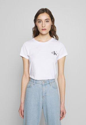 SLIM 2 PACK - Camiseta estampada - black/bright white