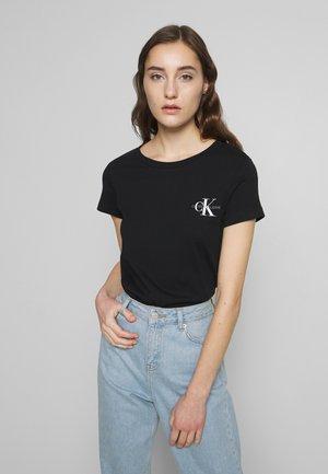 SLIM 2 PACK - T-shirt z nadrukiem - black