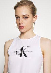 Calvin Klein Jeans - MONOGRAM STRETCH SPORTY TANK - Top - bright white - 3