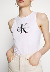 Calvin Klein Jeans - MONOGRAM STRETCH SPORTY TANK - Top - bright white - 5