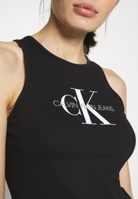 Calvin Klein Jeans - MONOGRAM STRETCH SPORTY TANK - Top - black - 5