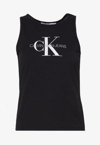 Calvin Klein Jeans - MONOGRAM STRETCH SPORTY TANK - Top - black - 4