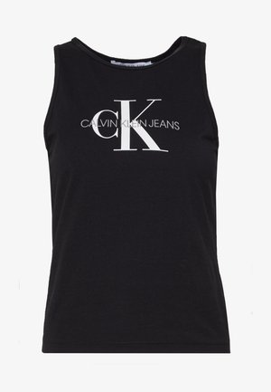 MONOGRAM STRETCH SPORTY TANK - Débardeur - black