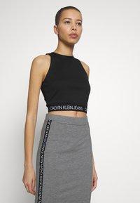 Calvin Klein Jeans - MILANO SPORTY TANK - Débardeur - black - 0