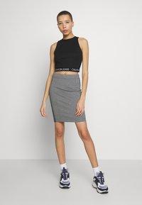 Calvin Klein Jeans - MILANO SPORTY TANK - Débardeur - black - 1