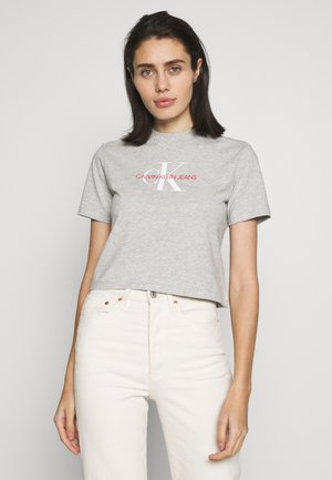 MONOGRAM MODERN STRAIGHT CROP - T-shirt print - light grey heather