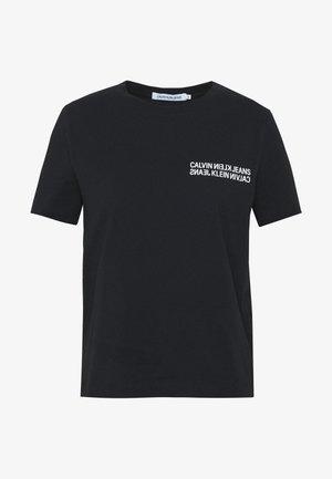 SQUARE GRAPHIC STRAIGHT TEE - T-Shirt print - black