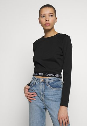 MILANO CREW NECK - Long sleeved top - black