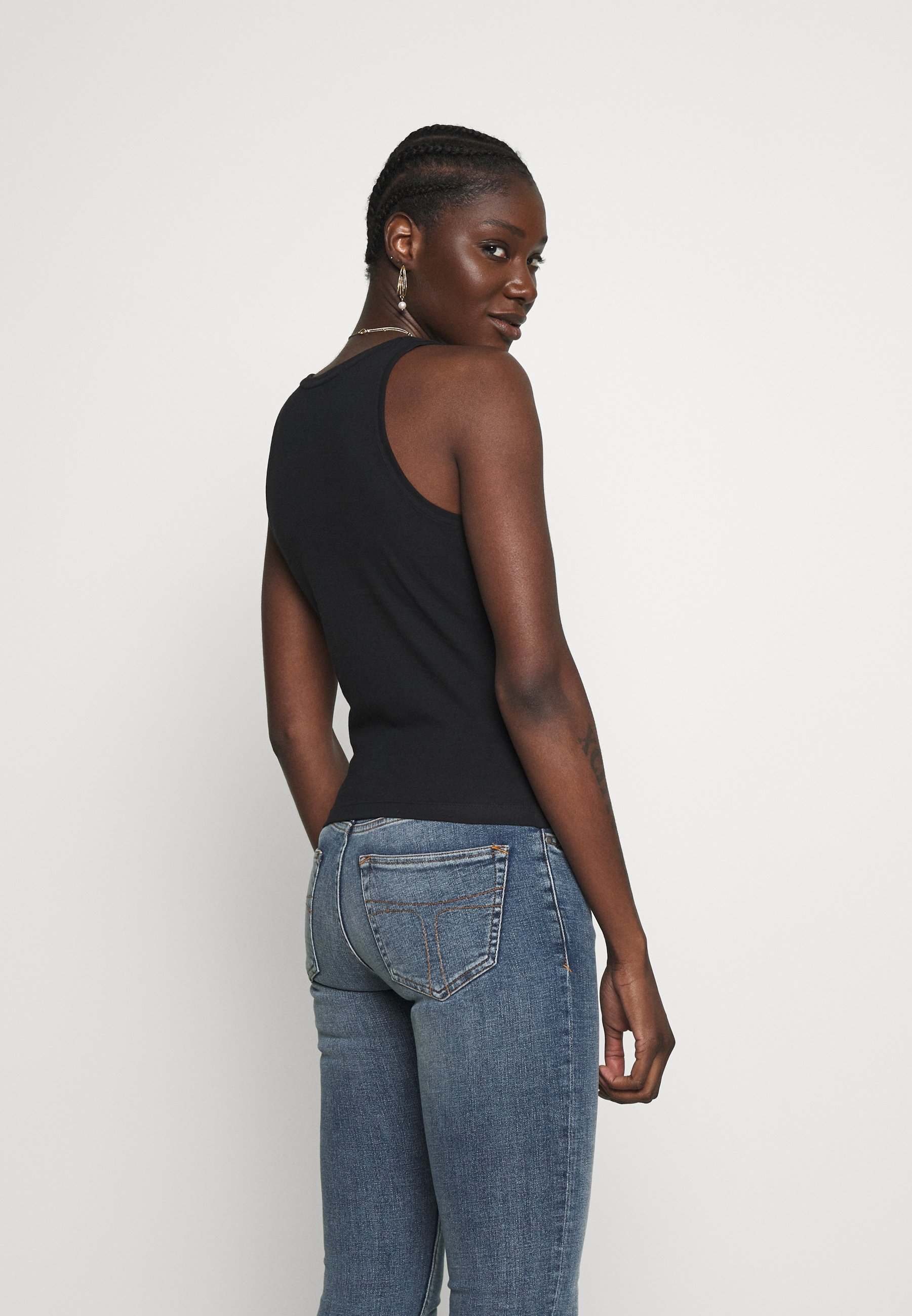Calvin Klein Jeans Degrade Logo Sporty Tank - Linne Black