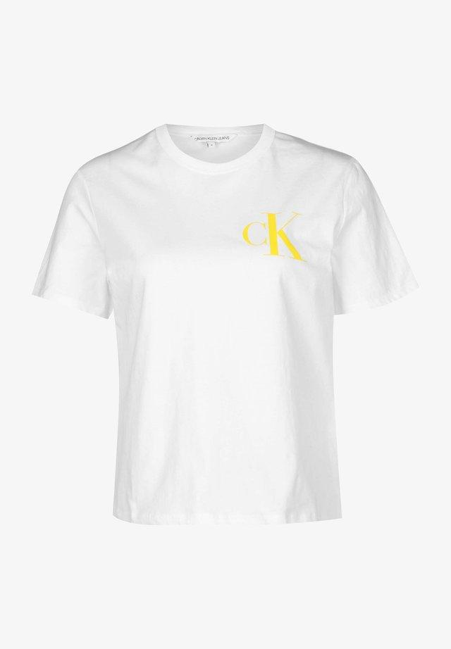 BACK INSTITUTIONAL LOGO SLIM TEE - T-Shirt print - bright white