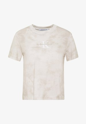 TIE DYE TEE - T-shirts med print - plaza taupe
