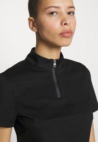 Calvin Klein Jeans - LOGO ELASTIC MILANO HALF ZIP - Print T-shirt - black - 3
