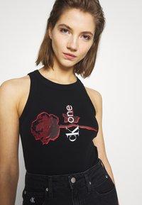 Calvin Klein Jeans - CK ONE RIB BODY - Top - black beauty - 3