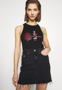 Calvin Klein Jeans - CK ONE RIB BODY - Top - black beauty - 0