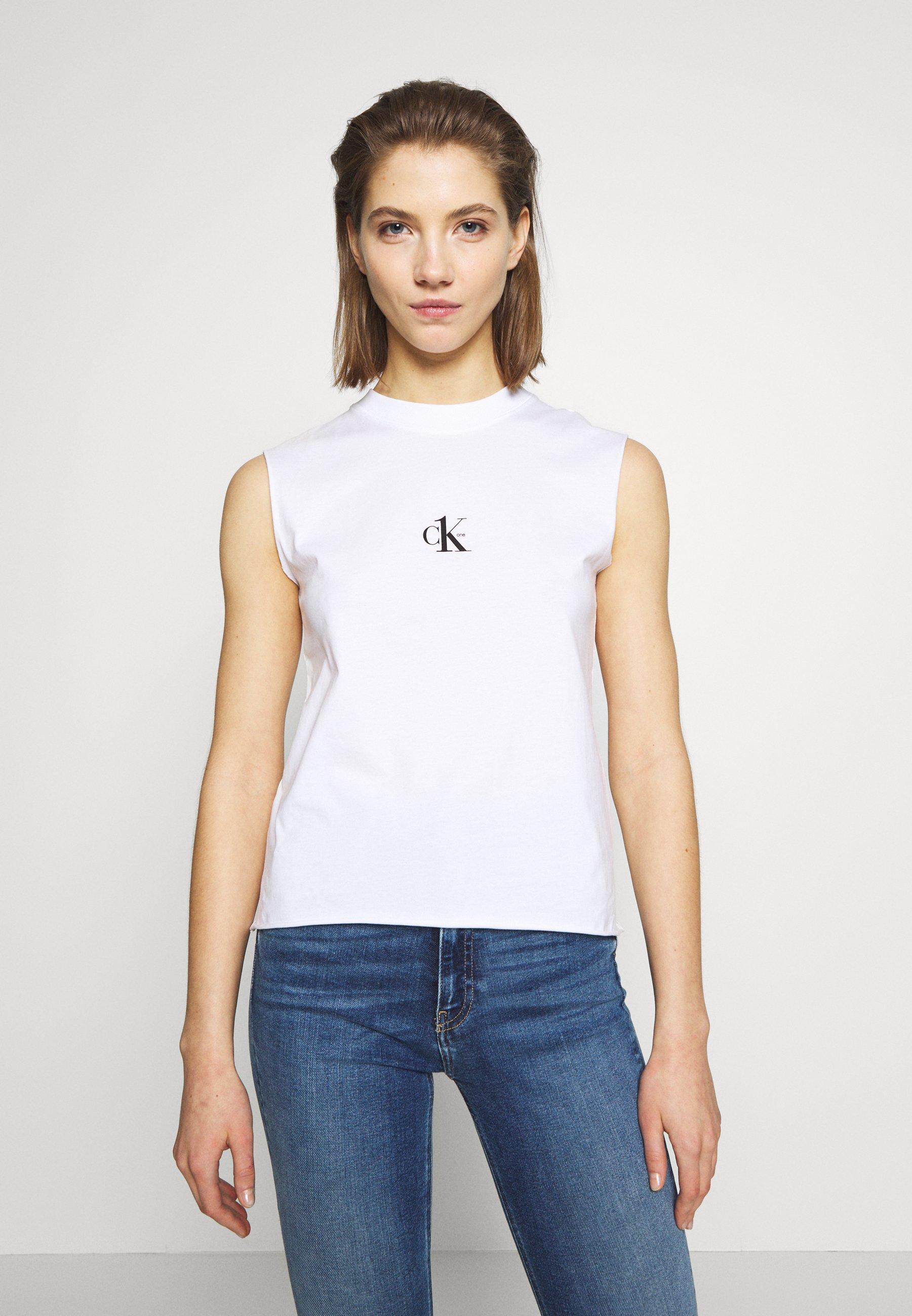 Calvin Klein Jeans CK ONE SMALL LOGO REGULAR TEE - Topper - bright white