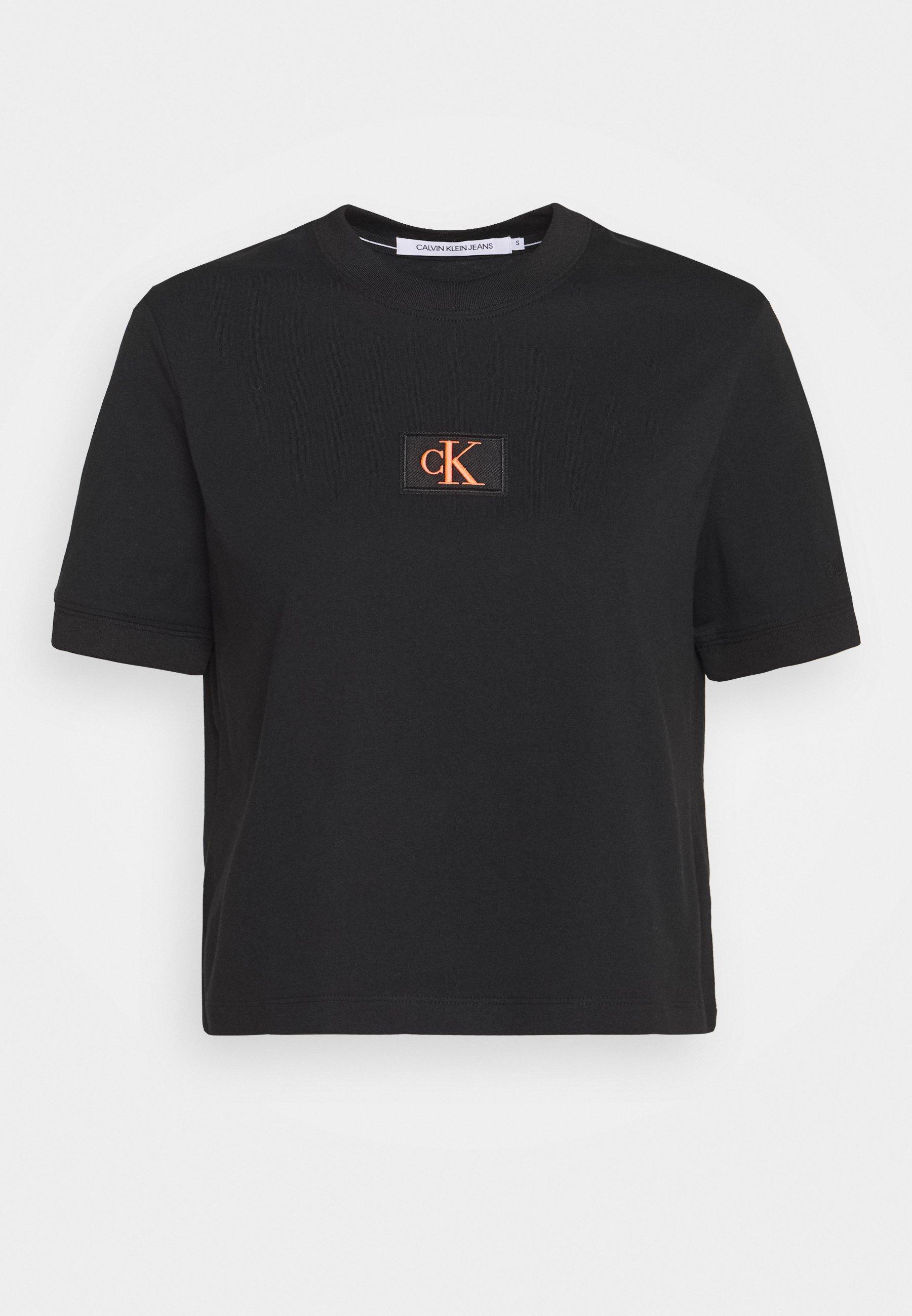 BADGE CROPPED TEE T shirt print black