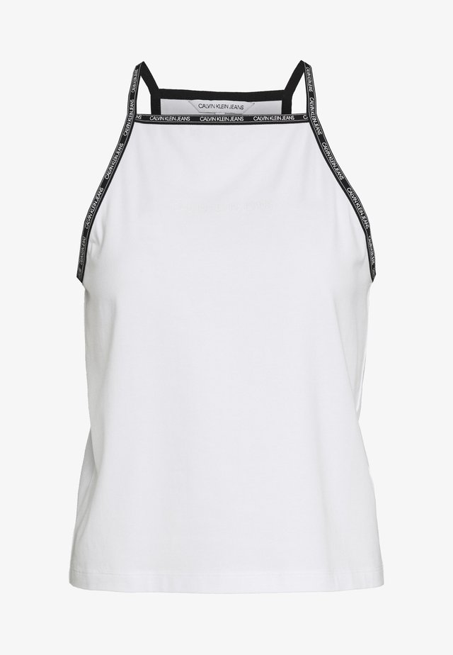LOGO TRIM TANK - Top - bright white