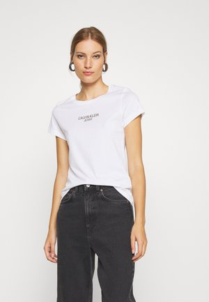 INSTITUTIONAL BACK LOGO TEE - T-shirts med print - bright white