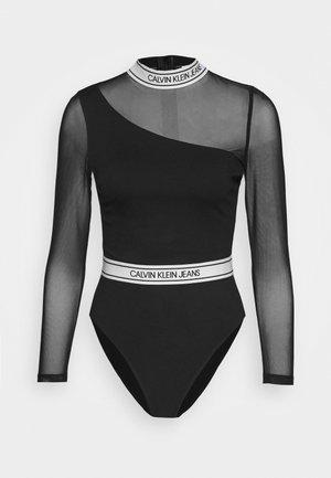 ASYMM LOGO MILANO BODY - Long sleeved top - black