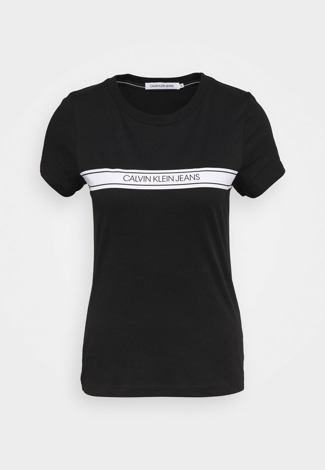 STRIPE SLIM TEE - T-shirt imprimé - black