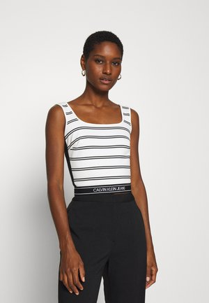 STRIPE MILANO TANK - Top - creamy white