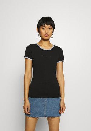 LOGO TRIM - Print T-shirt - black