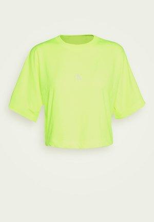 PUFF PRINT BACK LOGO - T-shirt print - safety yellow