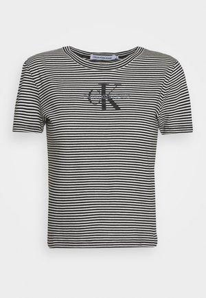 MONOGRAM STRIPE BABY - Print T-shirt - bright white
