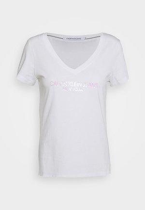 IRIDESCENT LOGO  - T-shirt print - bright white