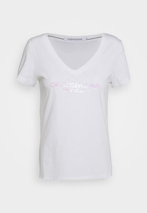 IRIDESCENT LOGO  - T-shirts med print - bright white