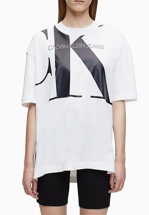 LARGE  - T-shirts med print - white