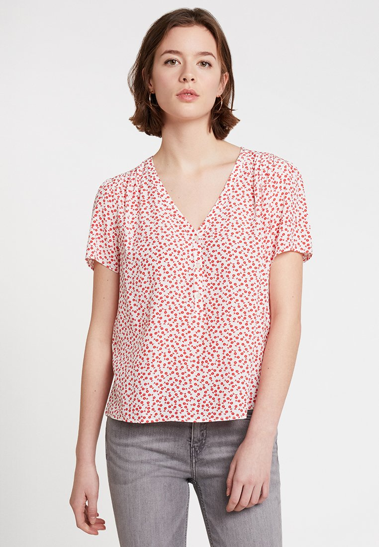 Calvin Klein Jeans - DRAPEY - Blouse - racing red