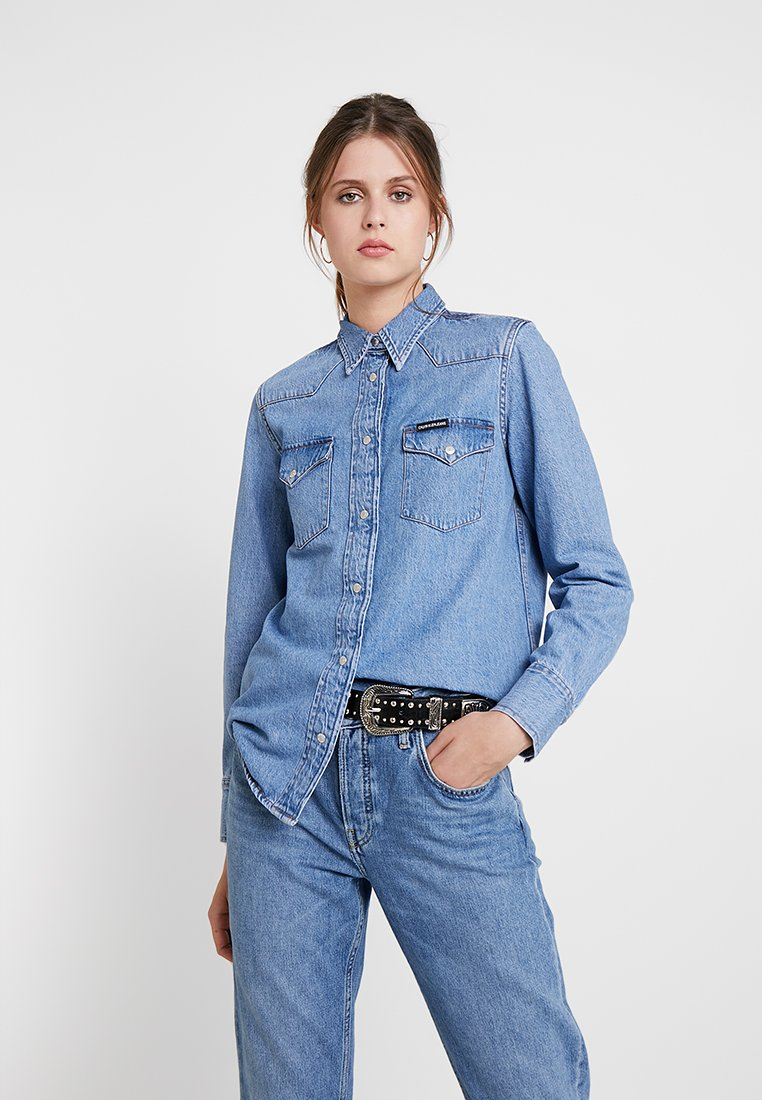 Calvin Klein Jeans - FOUNDATION ESSENTIAL - Hemdbluse - stone mid