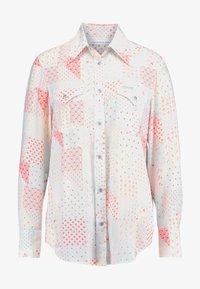 Calvin Klein Jeans - PATCHWORK PRINT WESTERN - Hemdbluse - orange/mint - 4